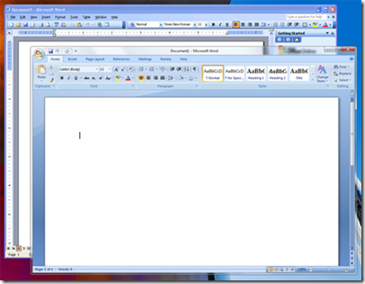 Office2003 running in XP Mode alongside Office2007