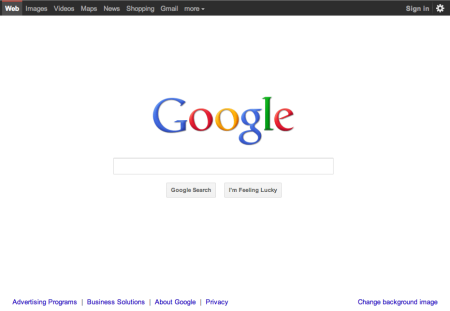 Updated Google Home Page