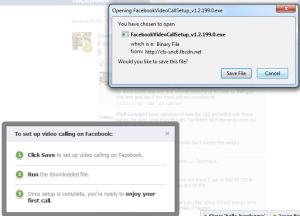 facebook video chat installation
